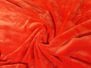 dzianina mikrofibra czerwona